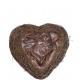Heart Salim open, dimensions 30x32cm, nature
